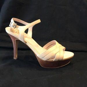 Vince Camuto Shoes - Vince Camuto Cream Platforms